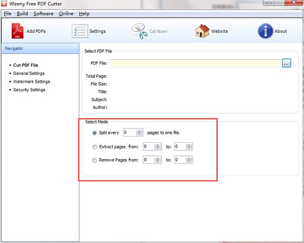 Weeny Free PDF Cutter使用教程�D片