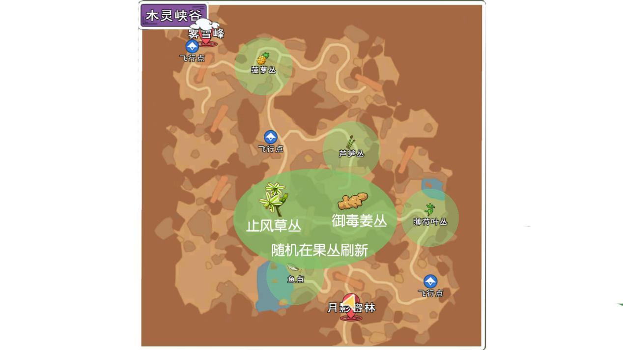 小森生活稀有资源的位置分布3