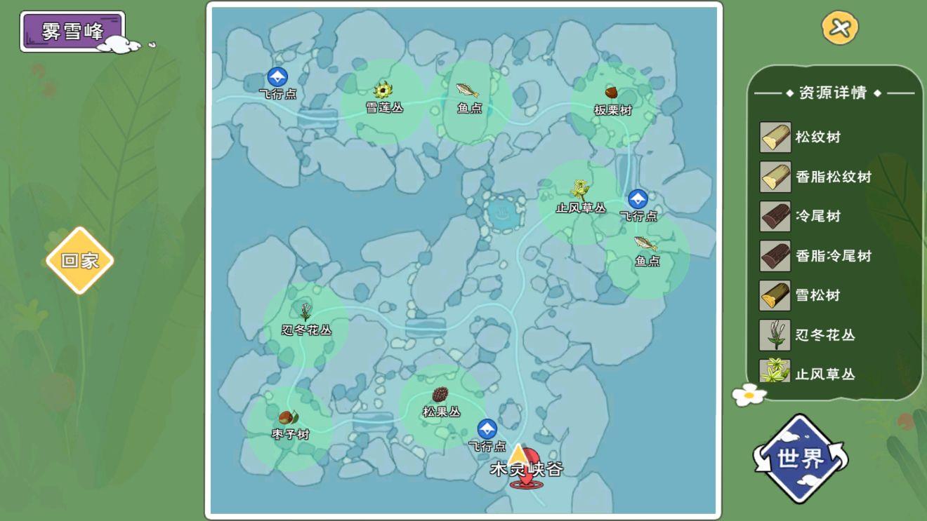 小森生活稀有资源的位置分布4