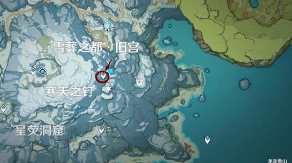 原神龙脊雪山石碑大门位置图