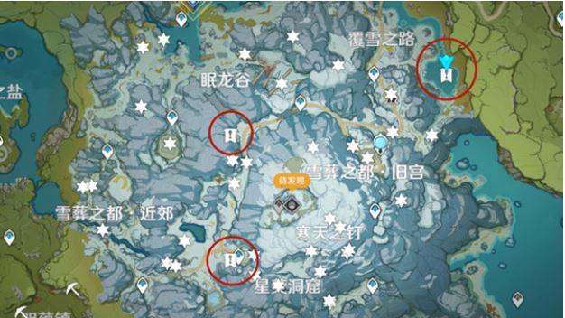 原神雪山密室图