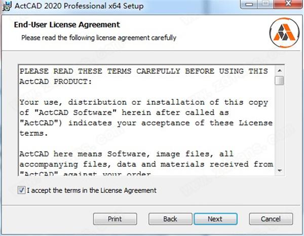 ActCAD 2020 Pro安裝方法1