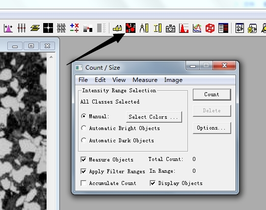 image pro plus測量面積數據導出教程圖片1