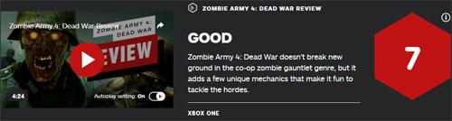 《僵尸部队4》IGN评分