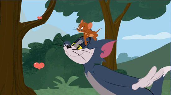 猫和老鼠欢乐互动图片
