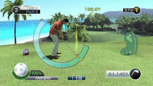 如龙3高尔夫游戏截图