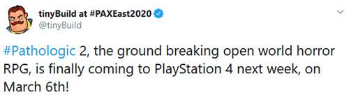 《瘟疫2》官方推特原文