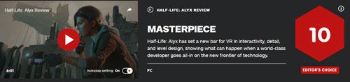 《半条命:Alyx》各媒体评分