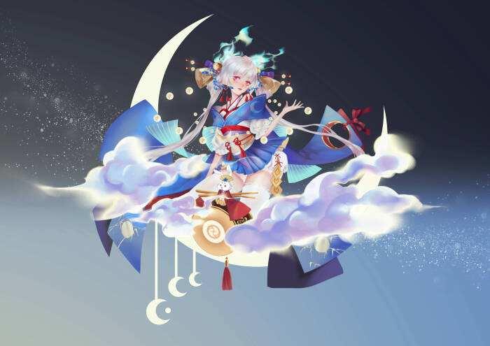 阴阳师追月神图片