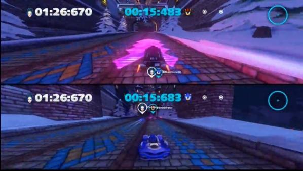 索尼克赛车分屏图片
