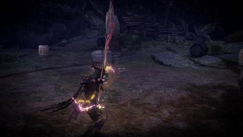 怪物猎人世界冰原红色魔法弓箭特效MOD截图0