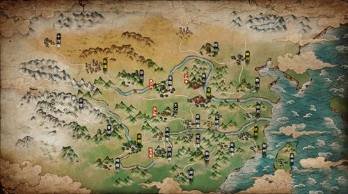 烟雨江湖明月山图