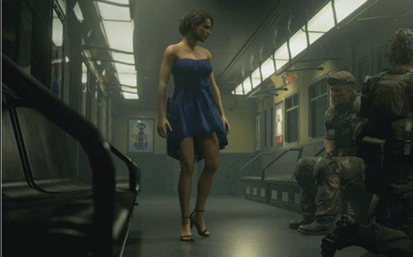 生化危机3重制版吉尔蓝色连衣裙MOD截图0