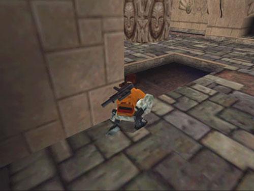 古墓丽影1墙角虫爬行法教程
