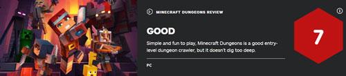 《我的世界:地下城》IGN评分