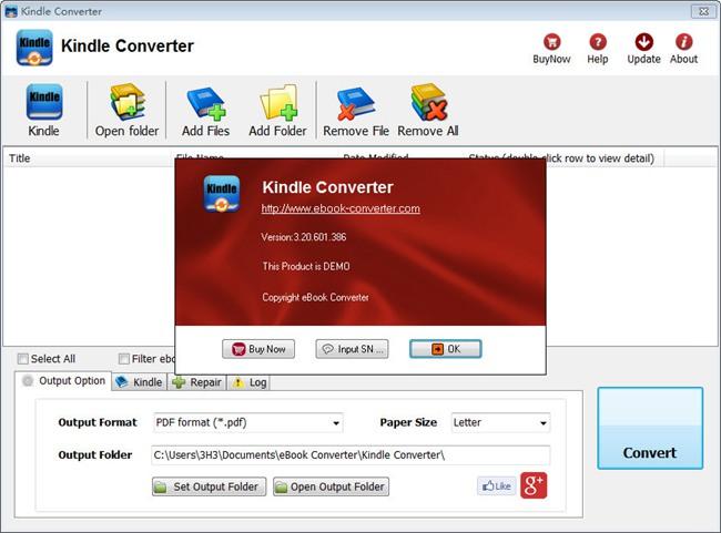 Kindle Converter�D