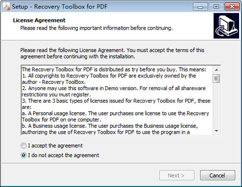 Recovery Toolbox for PDF截图2