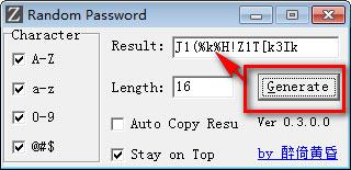 Random Password截图