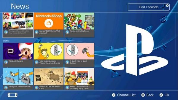 NS用PS4风格主题截图1