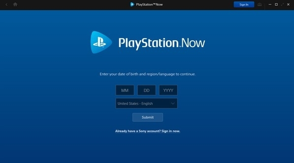 PlayStation Now windows图片