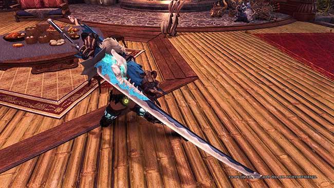 怪物猎人世界冰原辉夜姬的蓝凌刀MOD截图0
