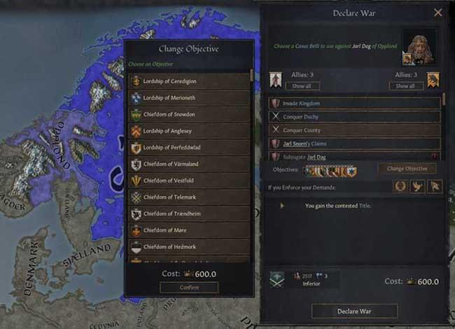 王国风云3战争原因MOD截图0