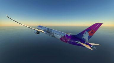 微软飞行模拟夏威夷航空配色MOD截图0