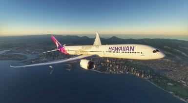 微软飞行模拟夏威夷航空配色MOD截图1