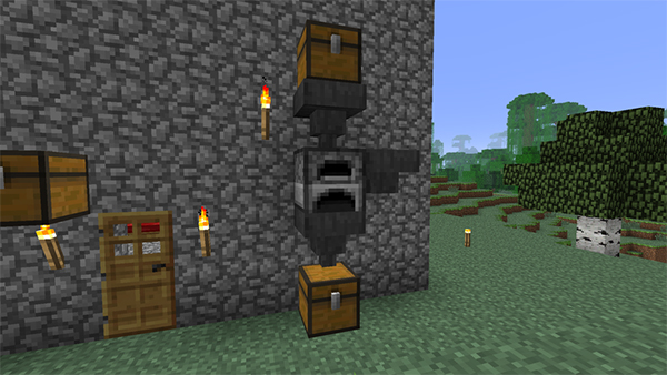 我的世界自动烧矿机制作