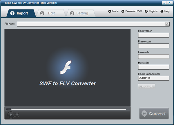 iLike SWF to FLV Converter图片