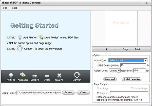 4Easysoft PDF to Image Converter图片