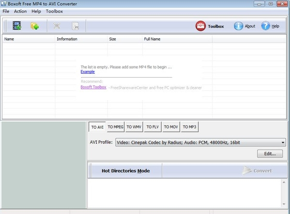 Boxoft free MP4 to AVI Converter软件图片1