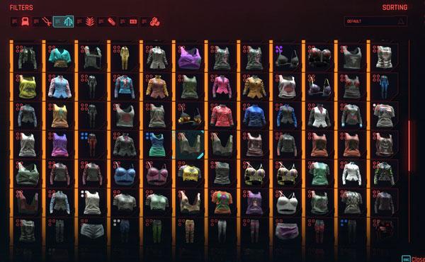 赛博朋克2077女V的衣柜存档截图0