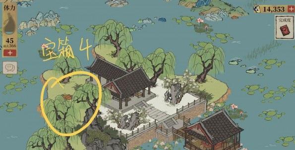 江南百景图钱塘门岛上的宝箱