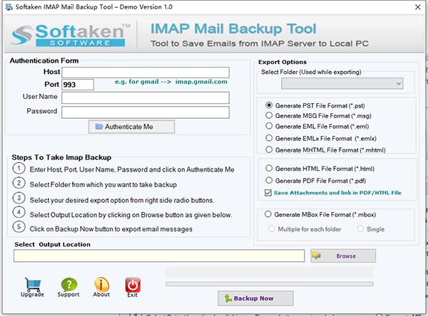 Softaken IMAP Mail Backup Tool图片