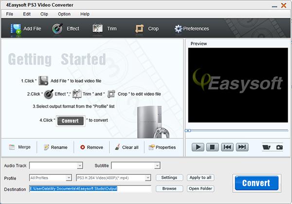 4Easysoft PS3 Video Converte图片