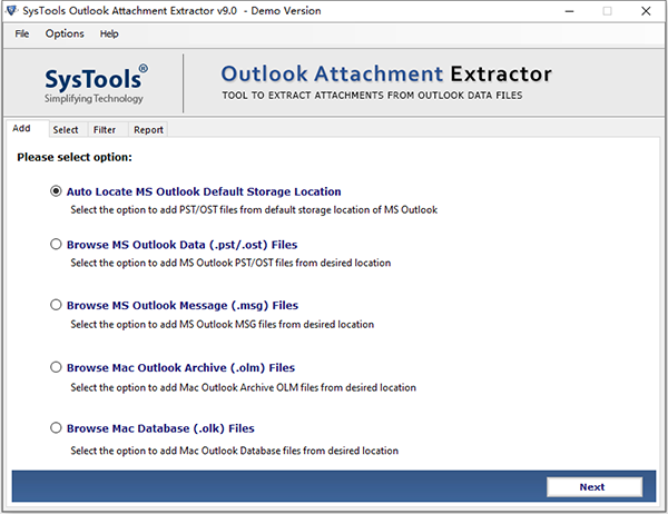 SysTools Outlook Attachment Extractor�D片