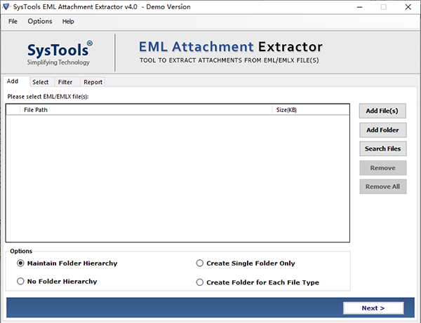 SysTools EML Attachment Extractor图片