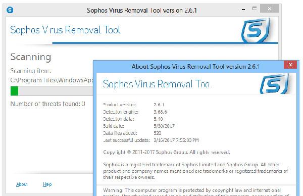 Sophos Virus Removal Tool截图