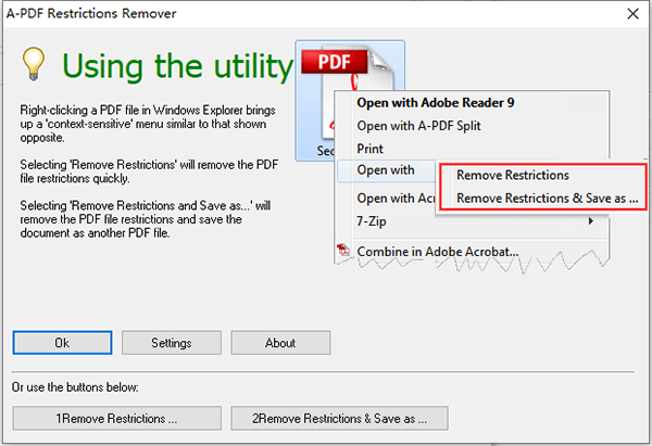 A-PDF Restrictions Remover图片