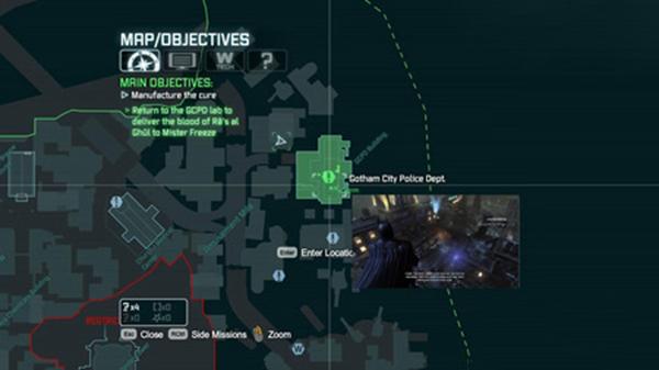 蝙蝠侠阿甘之城地图图片