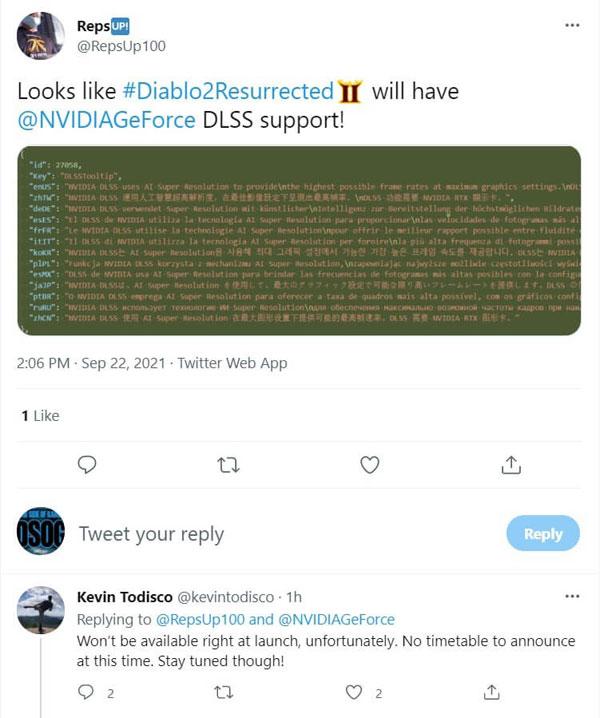 《暗黑破坏神2:重制版》官推截图