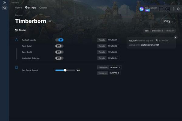 Timberborn五项修改器截图0