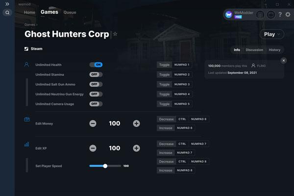 幽灵猎人公司八项修改器截图0