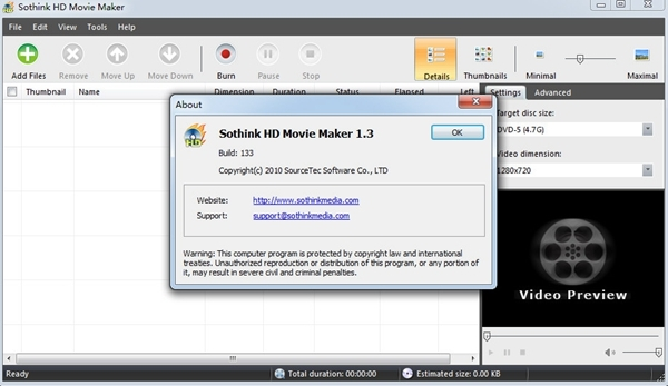 Sothink HD Movie Maker图片2