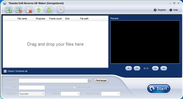ThunderSoft Reverse GIF Maker软件图片1