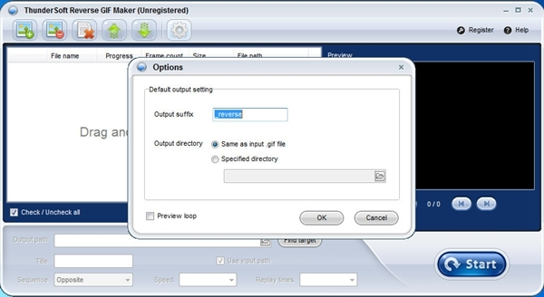 ThunderSoft Reverse GIF Maker软件图片2